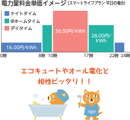電力量料金単価イメージ